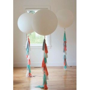 Inflated Giant 3ft Balloon with Tassels