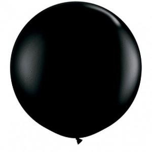 Giant 3ft Round Balloon  BLACK - 2pk