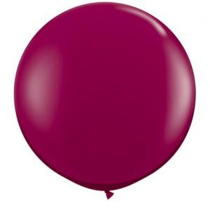 Giant 3ft Round Balloon  BURGUNDY - 2Pk