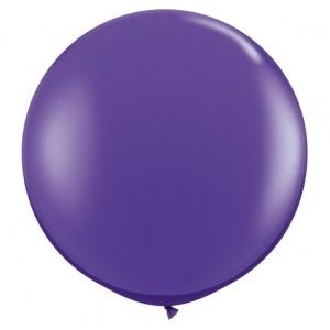 Giant 3ft Round Balloon  VIOLET - 2Pk
