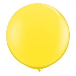 Giant 3ft Round Balloon  YELLOW - 2Pk