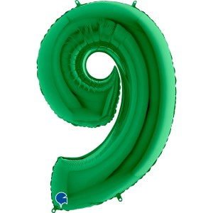 "40"" Green Foil Number Balloon"
