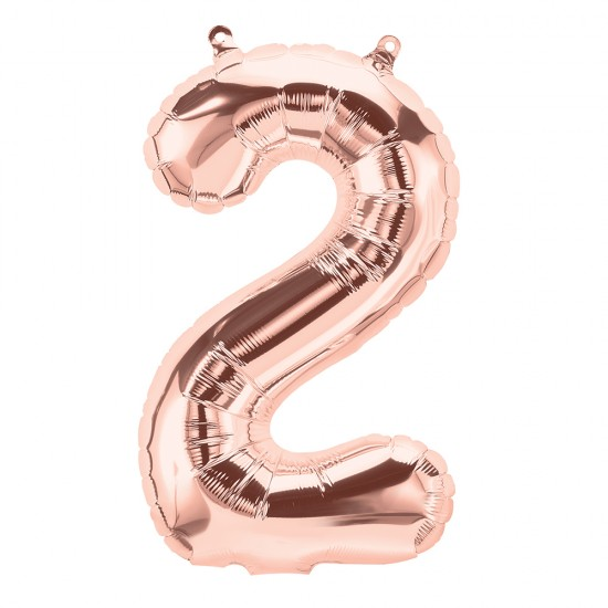 """16"""" Rose Gold 2 Number Balloon"""