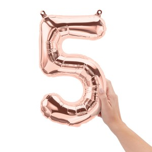 """16"""" Rose Gold Number Balloon"""