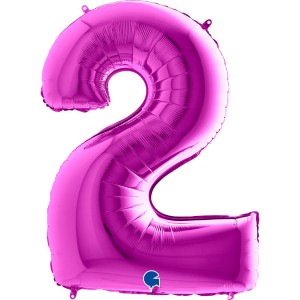 "40"" Purple Foil Number Balloon"