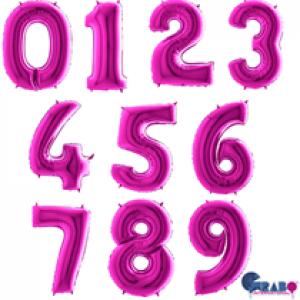 "40"" Purple Foil Number Balloon"