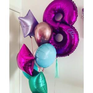 Giant Number Purple Foil