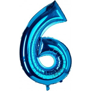 "34"" Blue Foil Number Balloon"