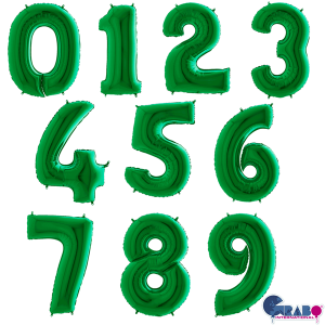 """40"""" Green Foil Number Balloon"""