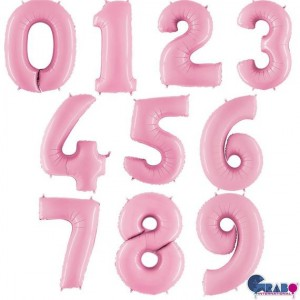 "26"" Pastel Pink Foil Number Balloon"