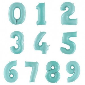 "26"" Pastel Blue Foil Number Balloon"