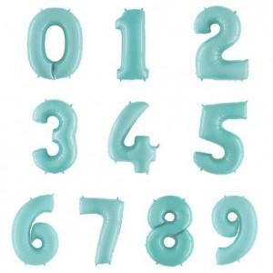 "26"" Pastel Blue Foil Number Balloon"