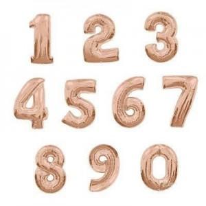 Giant Number Rose Gold Foil