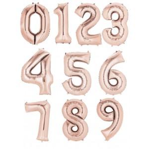 "34"" Rose Gold Foil Number Balloon"
