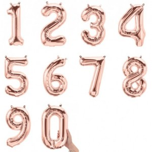 "16"" Rose Gold Number Balloon"