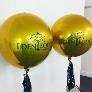 """16"""" Gold Orbz Balloon"""
