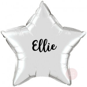 Star Foil Balloon with Name