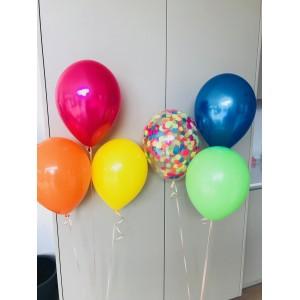 Latex Confetti Balloon Bunch of 3