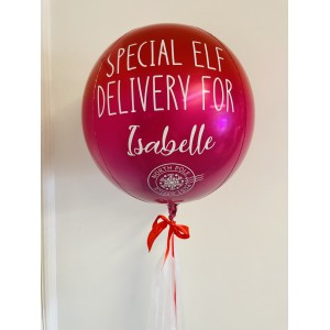 Christmas Elf Red & Pink Ombré Orb Balloon in a Box!