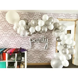 'Silver Stream' DIY Balloon Garland Kit
