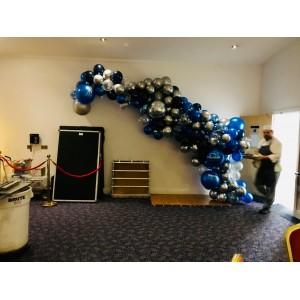 'Glitzy Blue' DIY Balloon Garland Kit