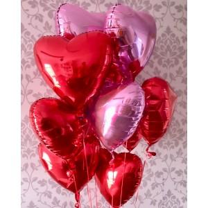 Foil Heart Bunch