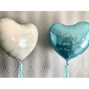 Giant Personalised White Foil Heart