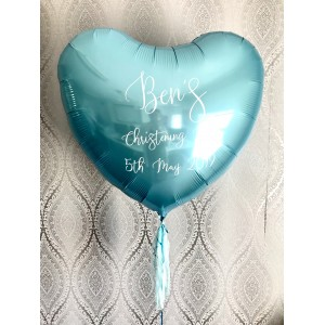 Giant Personalised Blue Foil Heart