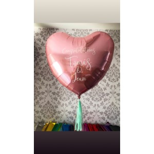 Giant Personalised Pink Foil Heart