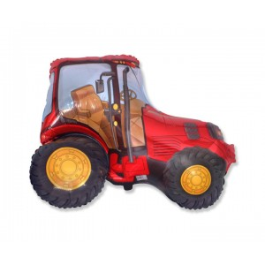 Red Tractor Foil Balloon