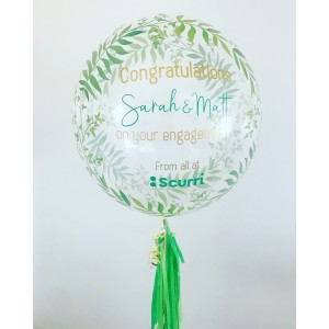 "24"" Green Fern Bubble Balloon"