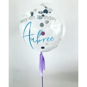 """Custom 20"""" Confetti Bubble Balloon"""