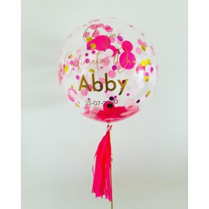 "20"" Clear Confetti Bubble Balloon"