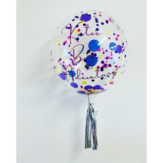 """Boxed Custom 24"""" Confetti Bubble Balloon in a box"""