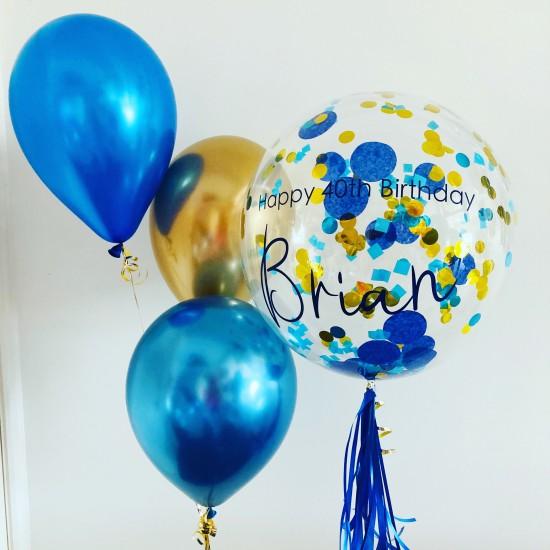 """20"""" Clear Confetti Bubble Balloon"""