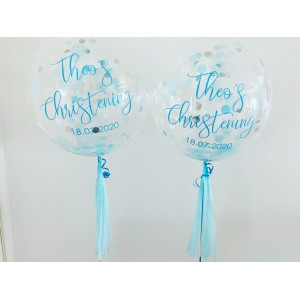 "Boxed Custom 20"" Confetti Bubble Balloon"