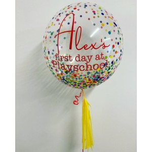 "Boxed 24"" Multi Colour Dots Bubble Balloon in a box"
