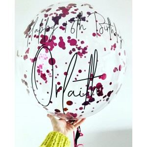 "24"" Clear Confetti Bubble Balloon"