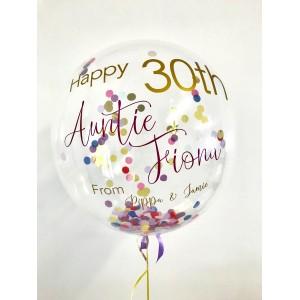 """Custom 24"""" Confetti Bubble Balloon"""