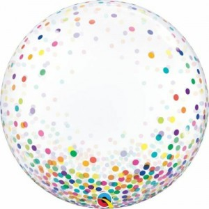"24"" Multi Colour Confetti Bubble Balloon"