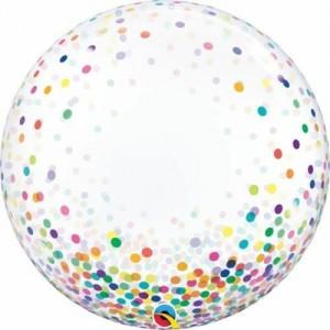 """24"""" Multi Colour Confetti Bubble Balloon"""