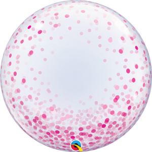 "24"" Pink Confetti Bubble Balloon"