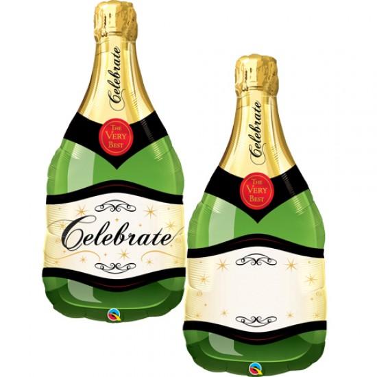 "Foil Balloon - Champagne Bottle 40"""