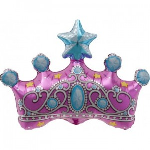Foil Balloon - Princess Crown 14""
