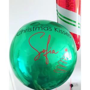 Custom Green Orbz Foil Balloon in a Box