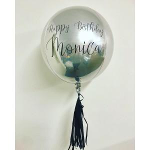 Custom Silver Orbz Foil Balloon in a Box
