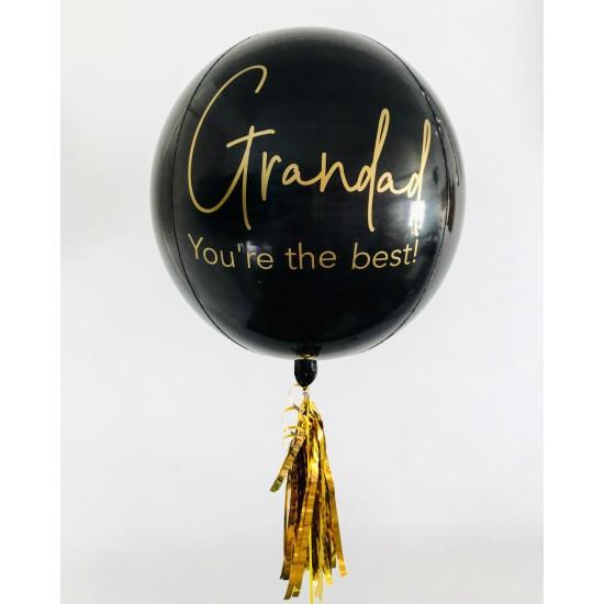 Custom Black Orbz Balloon
