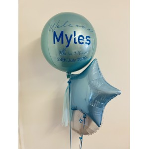 Custom Pastel Blue Orbz Balloon