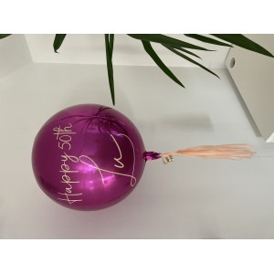Custom Pink Orbz Foil Balloon in a Box