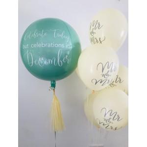 Custom Mint Orbz Foil Balloon in a Box